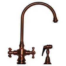 Kitchen Faucet Copper by Whitehaus Whksdcr3 8101 Goose Neck Cross Handle Kitchen Faucet
