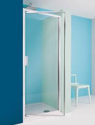 supreme pivot shower door in framed luxury bathrooms uk
