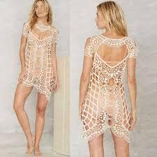 Beach Transparent by 2017 New Lace Beach Cover Up Women Transparent Beach Dress