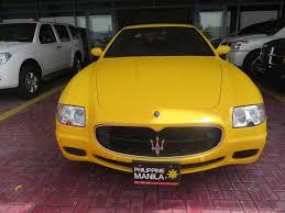 yellow maserati maserati quattroporte sport 2008 gcc spec kargal uae