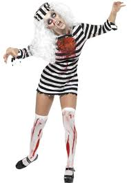 Evil Dorothy Halloween Costume Bloody Horror Zombie Wedding Gown Puff Sleeves Zombie Bride