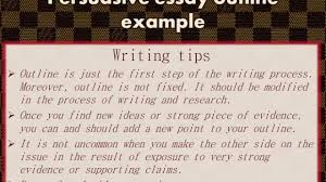 sample of a process essay persuasive essay outline example youtube