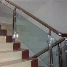 Glass Staircase Banister Glass Railing In Hyderabad Telangana Glass Staircase Railing