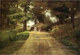 Indiana landscapes images Oil paintings of 4 an indiana road impressionist indiana jpg