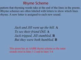 identifying rhyme scheme by tnteach teachers pay teachers