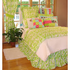 Bright Green Comforter Lime Green Bedding Pink Lime Green Ruffle Girls Bedding Twin