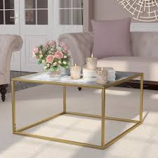 marble gold coffee table marble granite top coffee tables you ll love wayfair