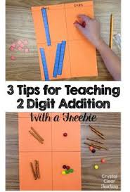 help students understand addition with regrouping using sticky