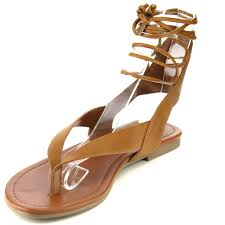 soda ia41 women u0027s lace up strappy cutout back flat thong sandals