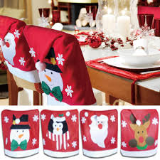 christmas chair covers 4 x christmas theme chair hat back covers party dinner table