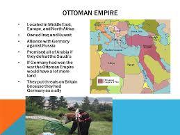 Ottoman Germany Wwi Borders Countries Involved Ottoman Empire Britain