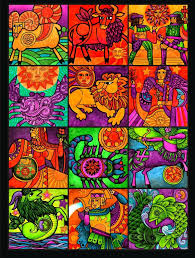 Colors Of The Zodiac by Vintage Zodiac Art Vintage Zodiac Poster By Frohickey All