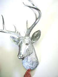 deer home decor xl faux taxidermy deer head wall mount home decor in silver stag