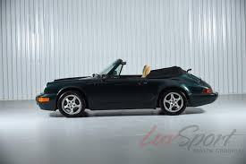 green porsche convertible 1990 porsche 964 carrera 2 cabriolet carrera stock 1990138 for