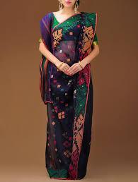 dhakai jamdani saree online buy multi color dhakai jamdani cotton saree online at jaypore