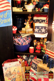 lori mitchell halloween americana display at the weed patch for memorial day from the patch