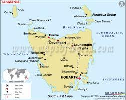 map of tasmania australia rail map