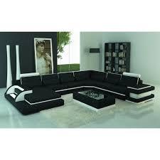 canapé panoramique en cuir canapé panoramique cuir noir et blanc design avec lumière ibiza