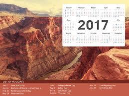 us holiday calendar 2017