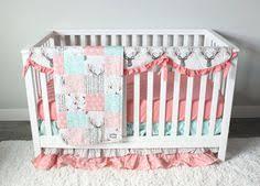 peach crib bedding baby crib bedding set peach grey and