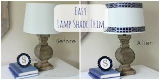 How To Make A Lamp Shade Chandelier Easy Peasy Lamp Shade Ribbon Trim Erin Spain