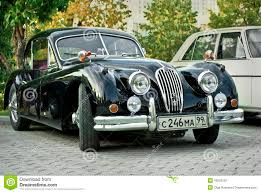antique jaguar retro car black jaguar xk120 classic editorial photography image