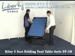 riley 5 foot folding pool table style fp 5b youtube