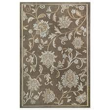 Westwood Flower Garden - westwood floral accent rug in taupe bed bath u0026 beyond