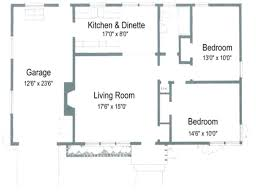 floor plan 2 bedroom bungalow floor plans for small 2 bedroom houses 2017 also house with garage