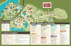 Zoo Lights Schedule by Columbus Zoo And Aquarium Park Map