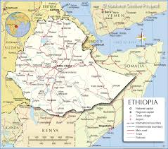 Map Of Africa And Europe by Political Map Of Ethiopia Nations Online Project