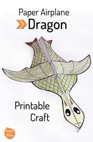 printable flying dragon craft simple crafts free printable and