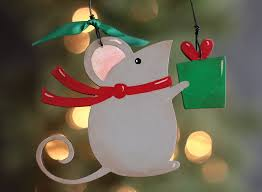 christmas mouse personalized ornament the weed patch