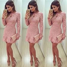 aliexpress com buy lace dress long sleeved mini elegant women