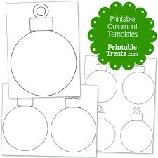 printable ornament templates from printabletreats