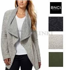 Draped Cardigan Sweater Bnci By Blanc Noir Women U0027s Tweed Drape Front Shawl Collar Cardigan