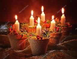 candles in terracotta pots u2014 stock photo springfield 11466436