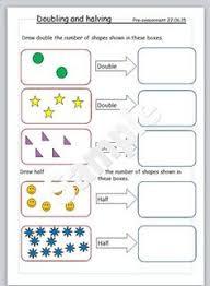doubling and halving maths worksheet ideas pinterest