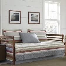 Eddie Bauer Bedroom Furniture by Eddie Bauer Salmon Ladder Stripe 100 Cotton 5 Piece Reversible