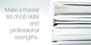 sample of special skills in resume professional skills to put on a