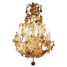 Italian Porcelain Chandelier Capodimonte Italian Porcelain Eight Light Chandelier For Sale At