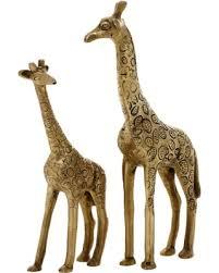 huge deal on home decor mother and child giraffe sculpture brass