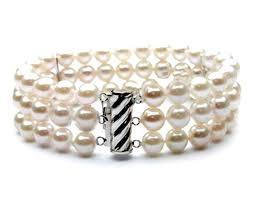 pearls bracelet images Three strands freshwater white pearls bracelet stunning boutique jpg