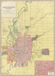 Indianapolis In Map Indianapolis Indiana Street Map 1902