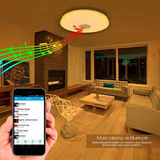 Ceiling Lights For Living Room by Le 24w Dimmable Led Music Ceiling Lights With Bluetooth Speaker