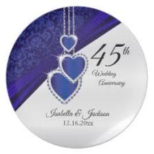 45th wedding anniversary 45th wedding anniversary plates zazzle
