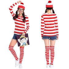 where s waldo costume free shipping where s wally waldo women party waldo