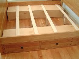 Easy Platform Bed With Storage Diy Platform Bed With Storage Drawers Plans Storage Decorations