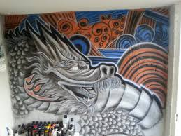 dragon airbrush wall art by ox4dboy87 on deviantart dragon airbrush wall art by ox4dboy87