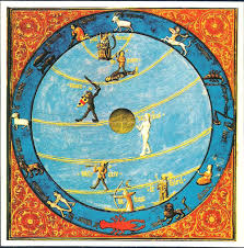 detail of a cosmological diagram from a 15th century illuminated